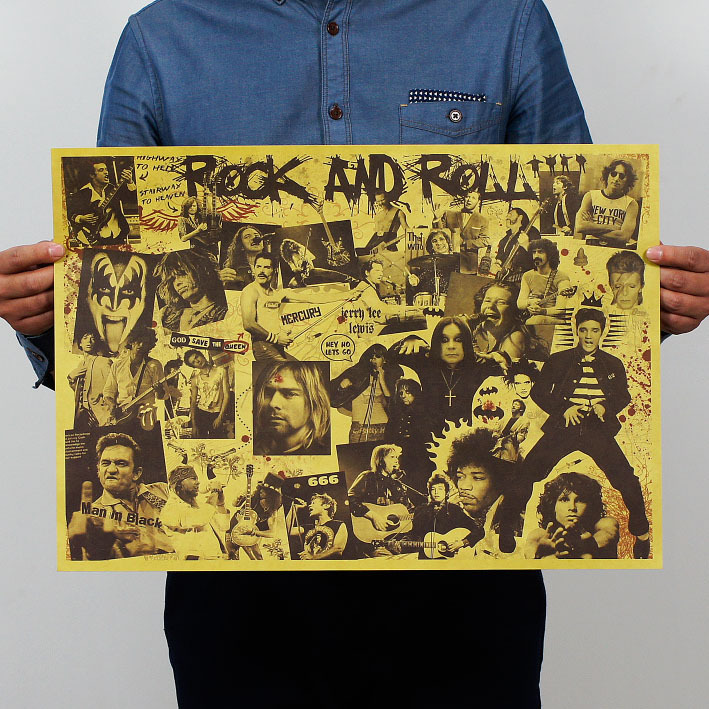 Rock And Roll Paper Poster