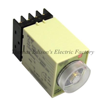 Power Off Delay Timer Time Relay 0-3 Minute 3M ST3PF with socket base AC 36V/110V/127V/380V DC24V(China (Mainland))