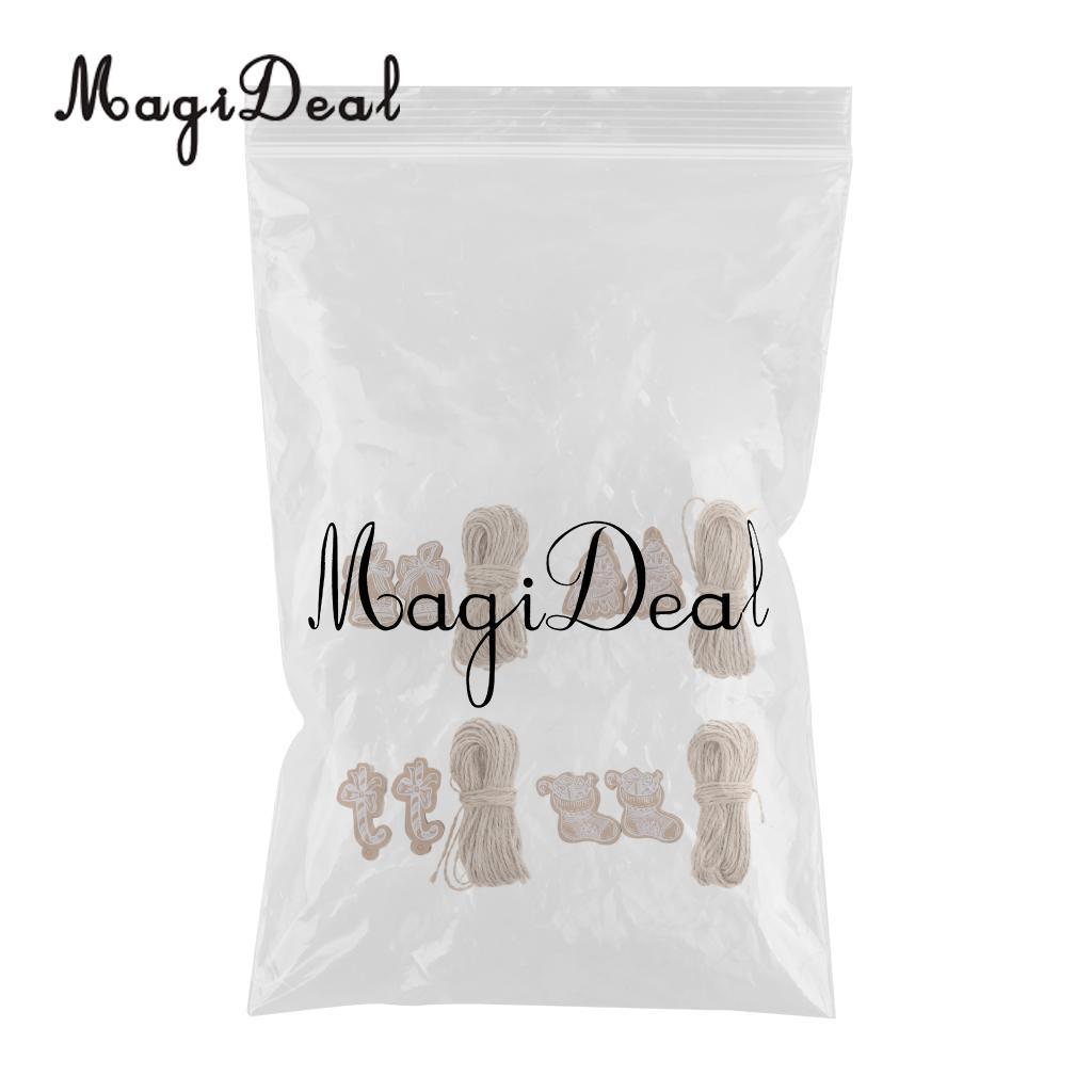 MagiDeal 200pcs Kraft Paper Christmas Gift Tag Labels Christmas DIY Hanging Decor