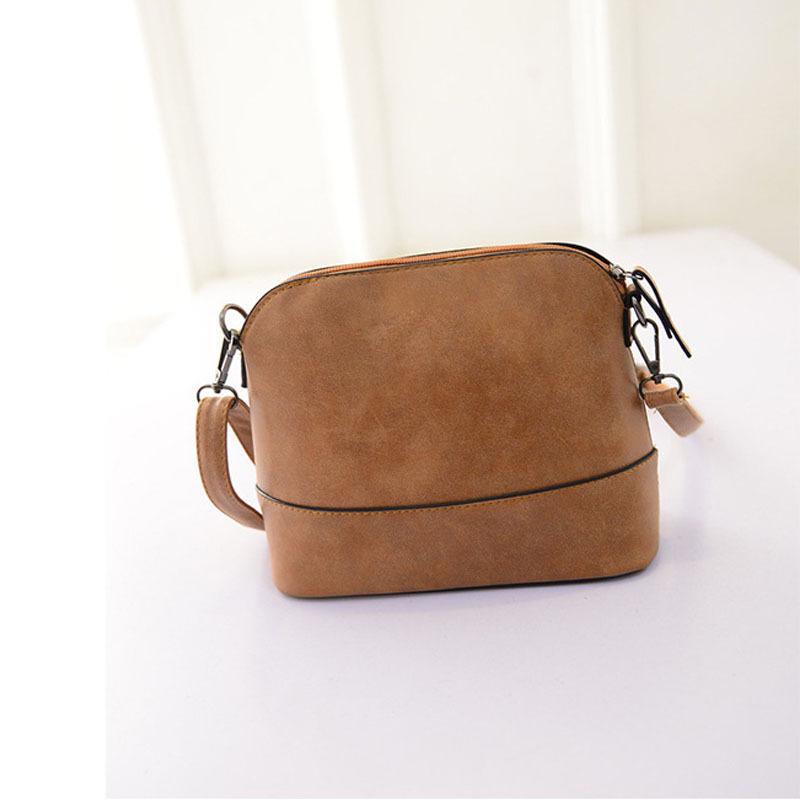 Selljimshop Women Scrub Shoulder Bag Handbag PU Leather Purse Satchel Messenger Bag(China (Mainland))