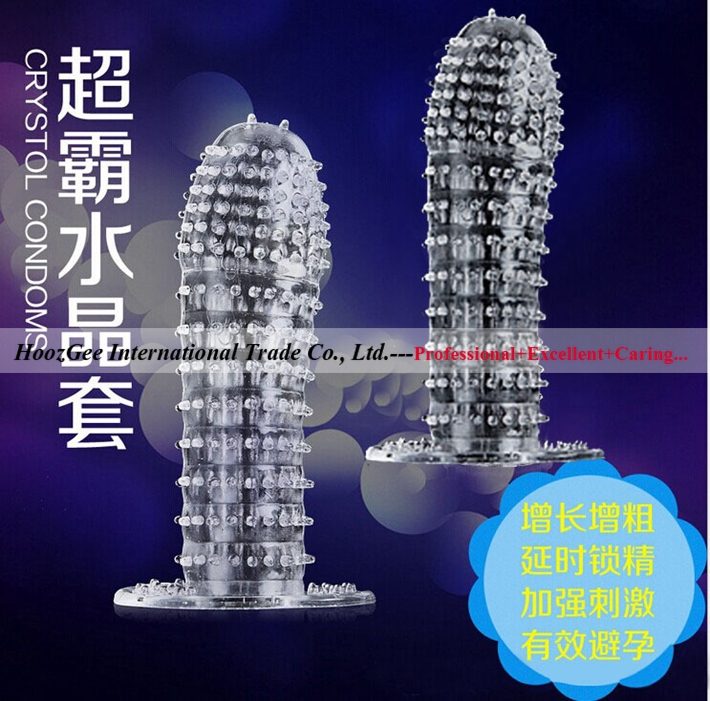 Wholesale 10Pcs/Lot Adult Toys Sex Product Sextoys Penis Cock Sleeve Male Condoms, Spike Bump Sleeve(China (Mainland))