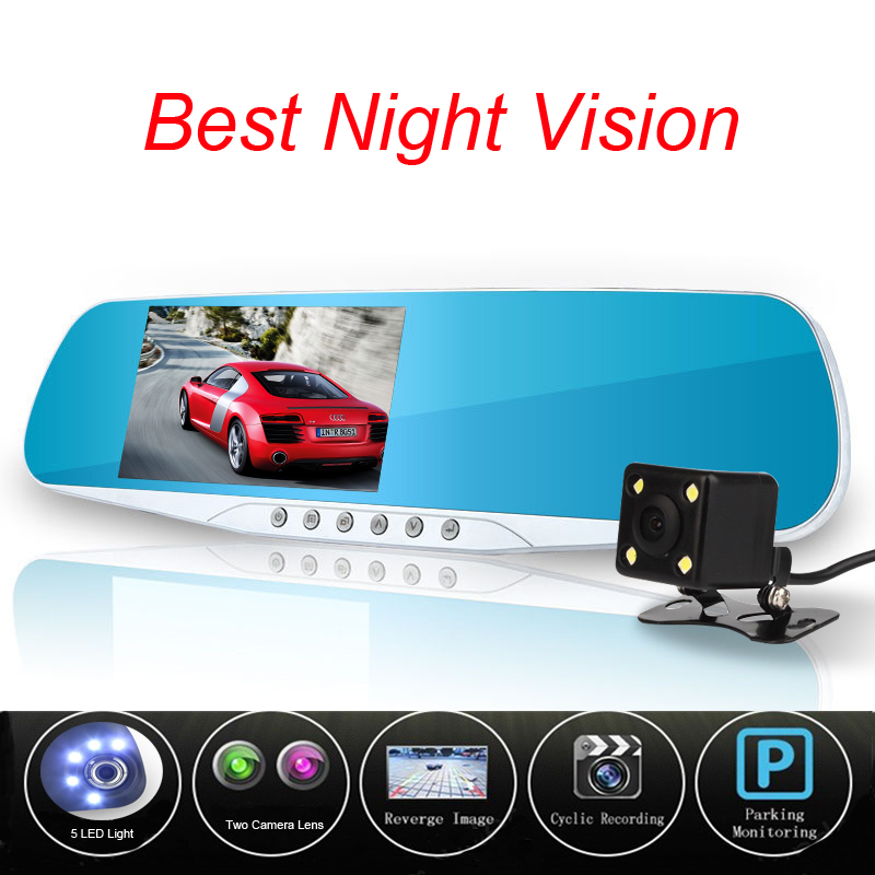 Newest Novatek 96655 Car Camera Dvr Blue Review Mirror Digital Video Recorder Auto Registrator Camcorder Dash Cam Night Vision(China (Mainland))