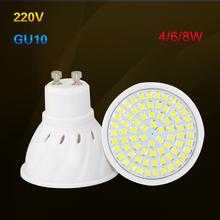 New Arrival 10PCS/LOT SMD 2835 GU10 LED Lamp 220V 230V 240V LED Spotlight 4w 6w 8w Light Bulbs LED for Home Chandelier(China (Mainland))
