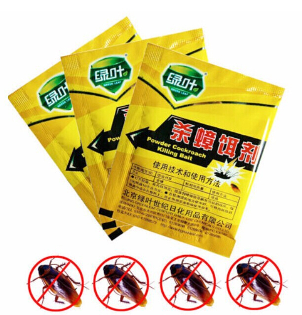 Killing Bait Killer Powder Effective Miraculous Insecticide Cockroach Roach free shipping(China (Mainland))