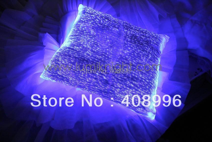 Fiber optic fabric luminous pillowcase / illuminated cushion(China (Mainland))