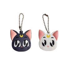 Anime Sailor Moon Gato Roxo Luna Chaveiro Figura Cosplay Bonito Pingente Chaveiro Presente(China)