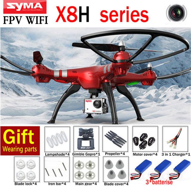 Самый дешевый SYMA X8HC X8HW X8HG FPV в Режиме реального Времени Режим Безголовый 2.4 Г 6-осевой летательный аппарат С WI-FI Камера HD 3D Ролл Дрон Вертолет Игрушки