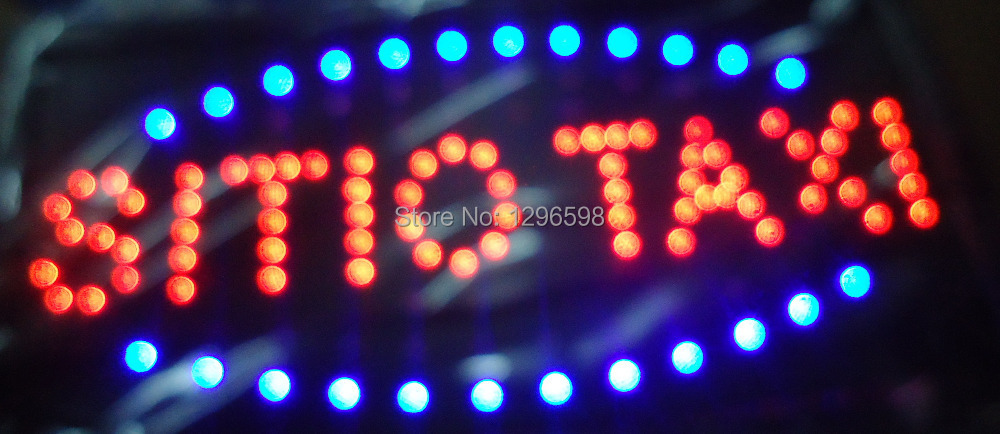 2015 direct selling customed low power 10X19 inch semi-outdoor Ultra Bright running sitio taxi led Neon open lighted Sign(China (Mainland))