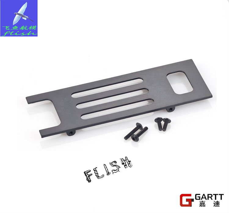 Freeshipping (2 PIECES/LOT) GARTT GT500 metal battery tray 100% compat Align Trex 500 RC HELICOPTER(China (Mainland))