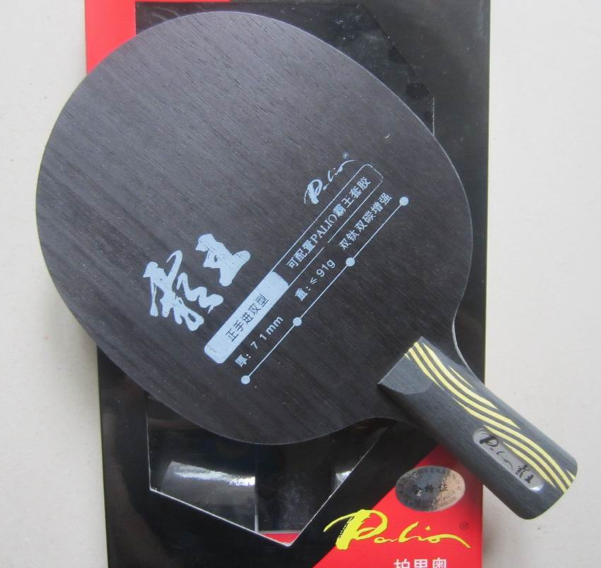 Original Palio overlord double carbon double titanium table tennis blade strengthen offensive, forehand off(China (Mainland))
