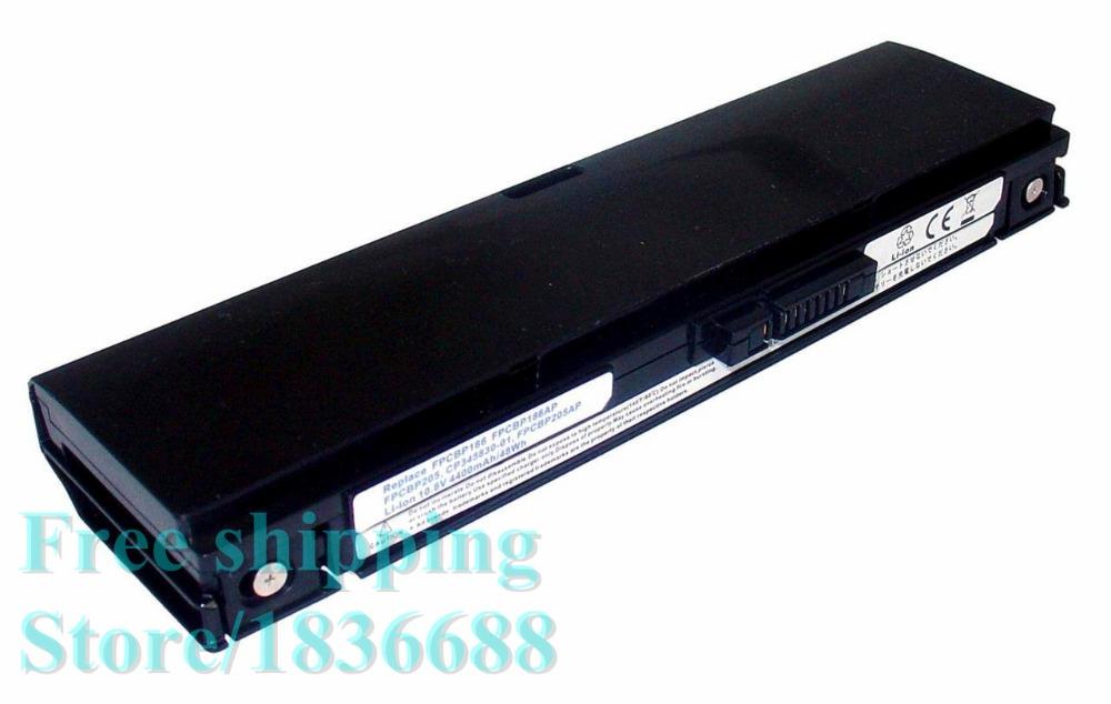 Free shipping New Genuine 10.8V 4400mAh Battery for Fujitsu LifeBook T2010 Tablet PC CP345809-01 FPCBP186 FPCBP186AP(China (Mainland))