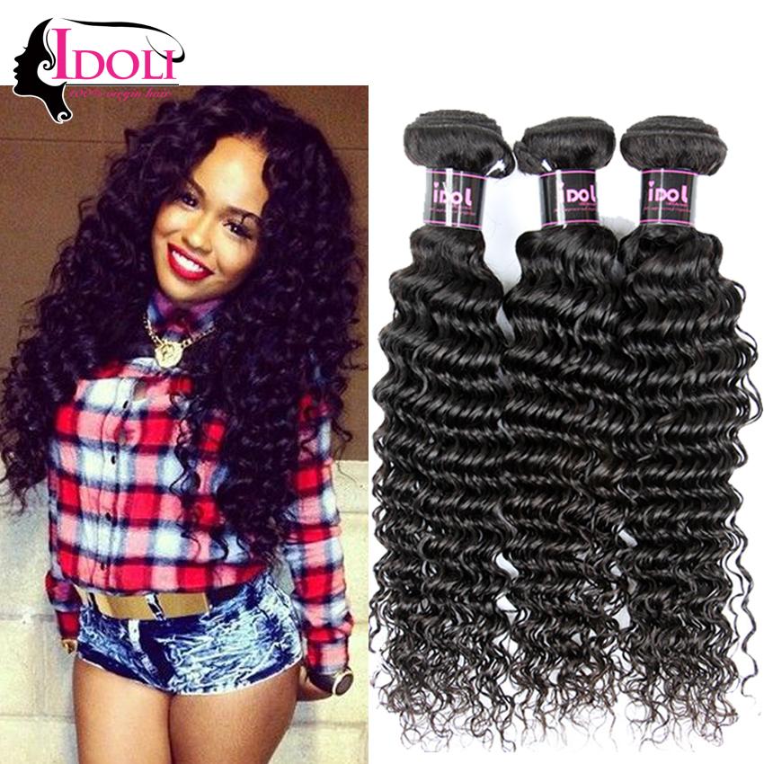 4 Bundles Of Deep Wave Brazilian Hair Tissage Bresilienne Angel Grace Lumina Hair Cheap Brazilian Deep Curly Hair Weave Websites(China (Mainland))