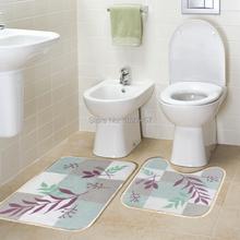 Туалет коврики ванная ковёр комплект современный лаконичный ванна циновка костюм-двойка скольжение круто-устойчивых ковры и коврики 40 * 60 см и U41 * 49 см L63