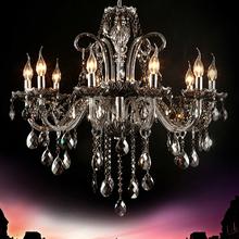 Smoky grey crystal pendant light fashion pendant light fashion k9 crystal lamps 6088(China (Mainland))