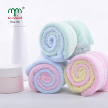 New 2017 Hand Towel -- 15pc/Lot Bamboo Towel Baby Face Cloth Plain Dyed Children Bibs Soft Towels bathroom Brand Towel 25*25cm(China (Mainland))