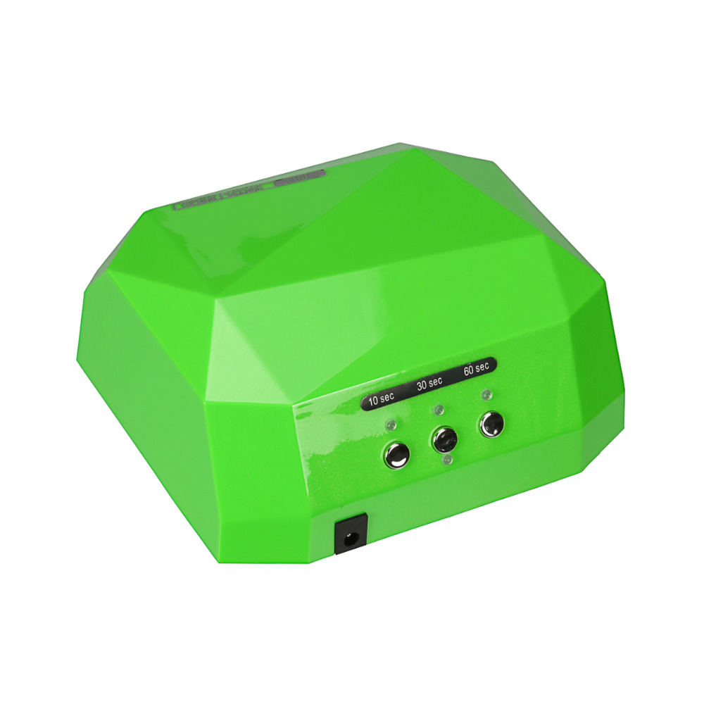 Nail Dryer&FREE SHIPPING 36W LED Light CCFL Diamond Shaped Best Curing Machine for UV Gel Nail Polish Nail Art Tools(China (Mainland))