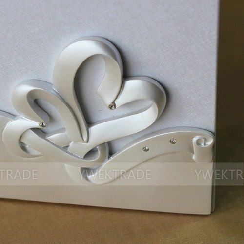 1set new white elegant flower wedding guest book guestbook sign in book guest book Party Favors