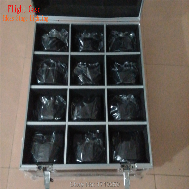 Flight Case 12 piecesLED SlimPar 7x9W RGB 3IN1 LED DJ Wash Light Stage Uplighting Noise 12 pieces DMX Cables