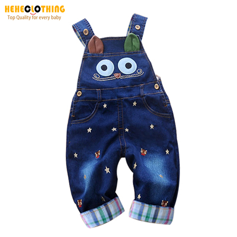 High Quality 2015 Spring baby rompers Animal Boy's Girl's Jumpsuit roupas de bebe Denim Overalls infant costumes Baby Clothing(China (Mainland))