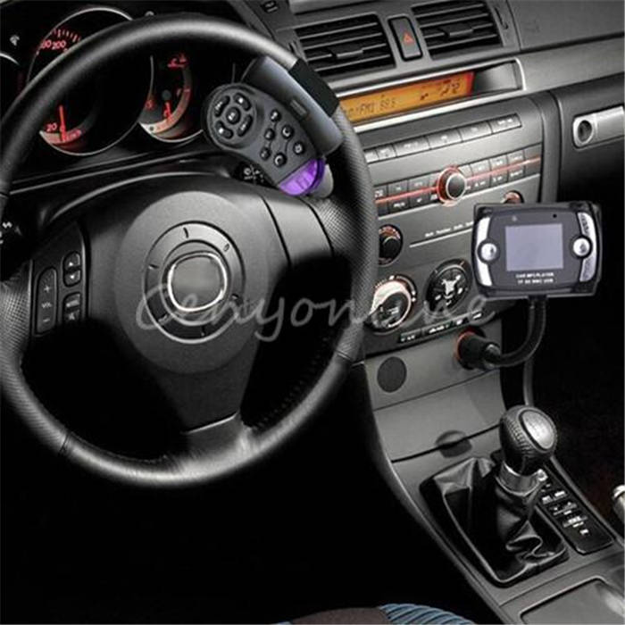 Hot Sale A2DP Car Kit Wireless Bluetooth FM Transmitter MP3 Player USB For SD LCD Remote Handsfree(China (Mainland))