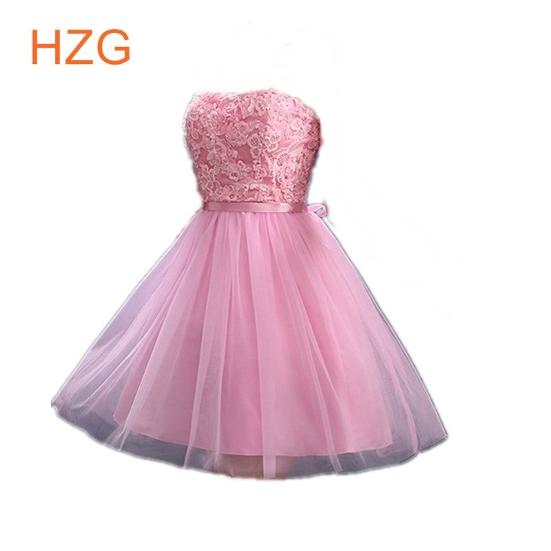 2016 applique tulle short tight cheap fashion semi formal homecoming dresses purple yellow 2016 for teens short girls Red sale(China (Mainland))