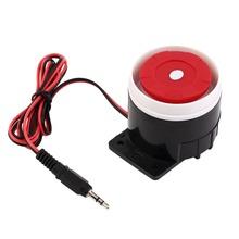 Perforación del oído sirena interior con cable Mini bocina sirena seguridad para el hogar sistema de alarma de sonido 120dB DC 12 V nuevo(China (Mainland))