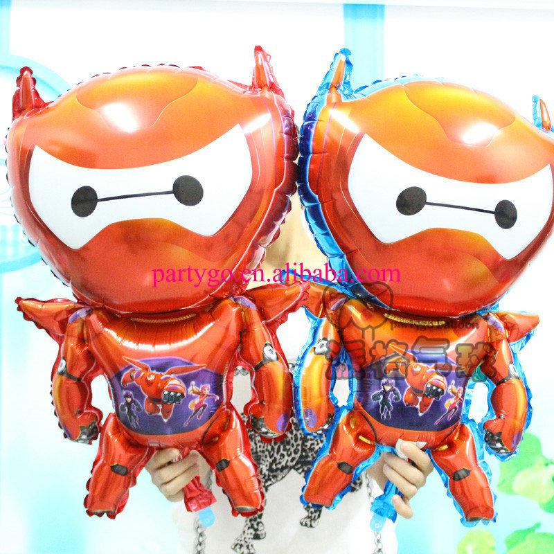 Wholesale 50pcs/lot Big hero 6 Baymax Balloons Classic Toys Christmas Birthday Wedding Decoration Party inflatable air balloons(China (Mainland))