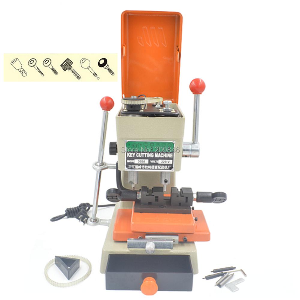 P049 DEFU 368A 110v/220v universal key cutting machine for door and car key duplication Machine Locksmith Equipment(China (Mainland))