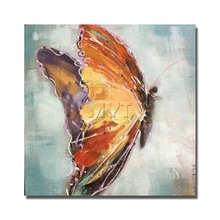 Buy High Modern Framed 380gsm Cotton Canvas Palette Knife Beautiful Butterfly Oil Painting Canvas Home Decor for $10.20 in AliExpress store