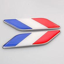 Buy 2PCS Car Auto 3D Aluminum + Epoxy FR France Flag Fender Emblem Badge Decal Sticker Fit VW Golf Passat Polo GTI ect for $7.33 in AliExpress store