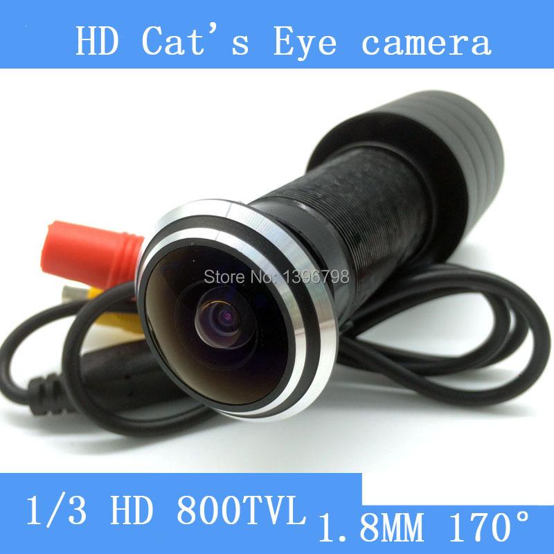 "Mini 1/3"" CCD 5MP 800TVL doorbell Color Home Door Hole Eye Security CCTV Camera 25-30mm Thickness Door"