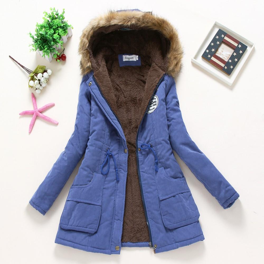 Parkas down cotton jacket 2016 Winter Jacket Women Clothing Parkas Casual Outwear Hooded Down Cotton Jacket Female QZN020