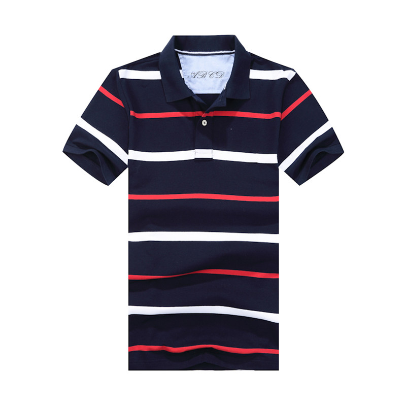 2016 Summer New Men's Striped Fashion Polo Shirt High Quality Cotton Short Sleeved Men Shirt Brand Designer Male Polos Homme XXL(China (Mainland))