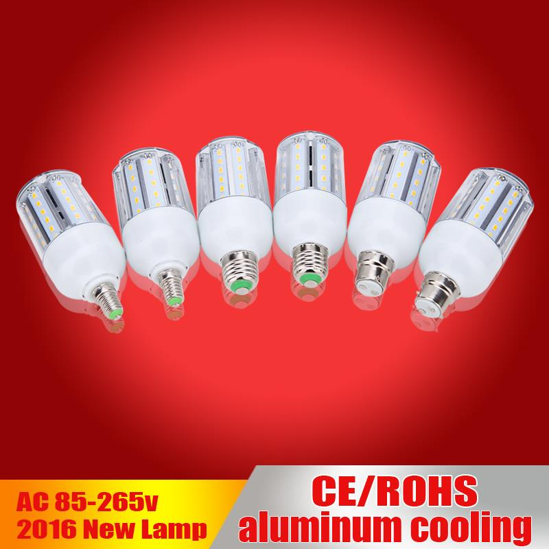 10pcs/lot E27 Led Bulb B22 Led Lamp AC85-265V Lampada de led White/Warm White Led corn light Home Lighting aluminum cooling<br><br>Aliexpress