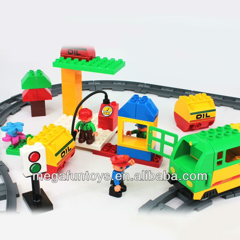 Train Toys For Boys : Funlock building block electric train toy for boys pcs