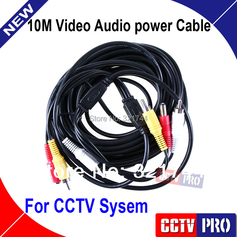 10M CCTV Cable Video Power Audio Cable Used For CCTV System The Camera Cable(China (Mainland))