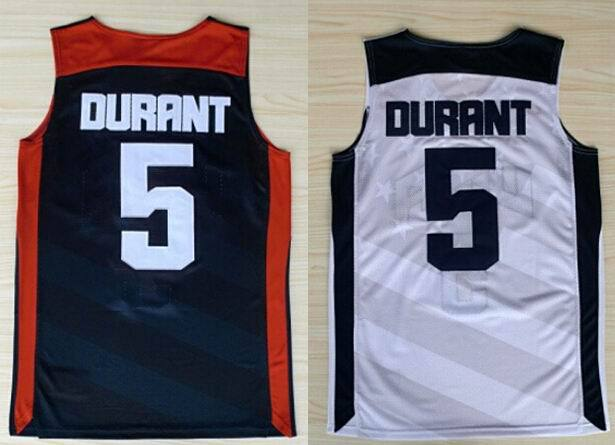 Cheap Kevin Durant Jersey White blue mens 5 Durant basketball jersey Dream Team USA 2012 Olympic Games Jersey Sophia Sarah Store(China (Mainland))