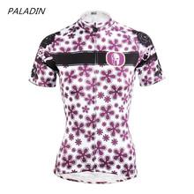 Buy Women Cycling Jerseys Outdoor Sports Purple pro mtb bike jersey Team Cycling clothing bicycle jersey flower Cycling wear for $18.98 in AliExpress store
