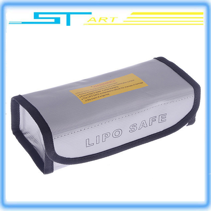 RC LiPo Battery Large Safety Bag Explosion-proof Safe Guard Charge Sack 18.5*7.5*6 Size Silver Drop Shipping(China (Mainland))