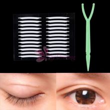 2014 New 120 pcs White Thin invisible Double-sided Eyelid Adhesive Eyes Tape Sticker Fork # 56029(China (Mainland))