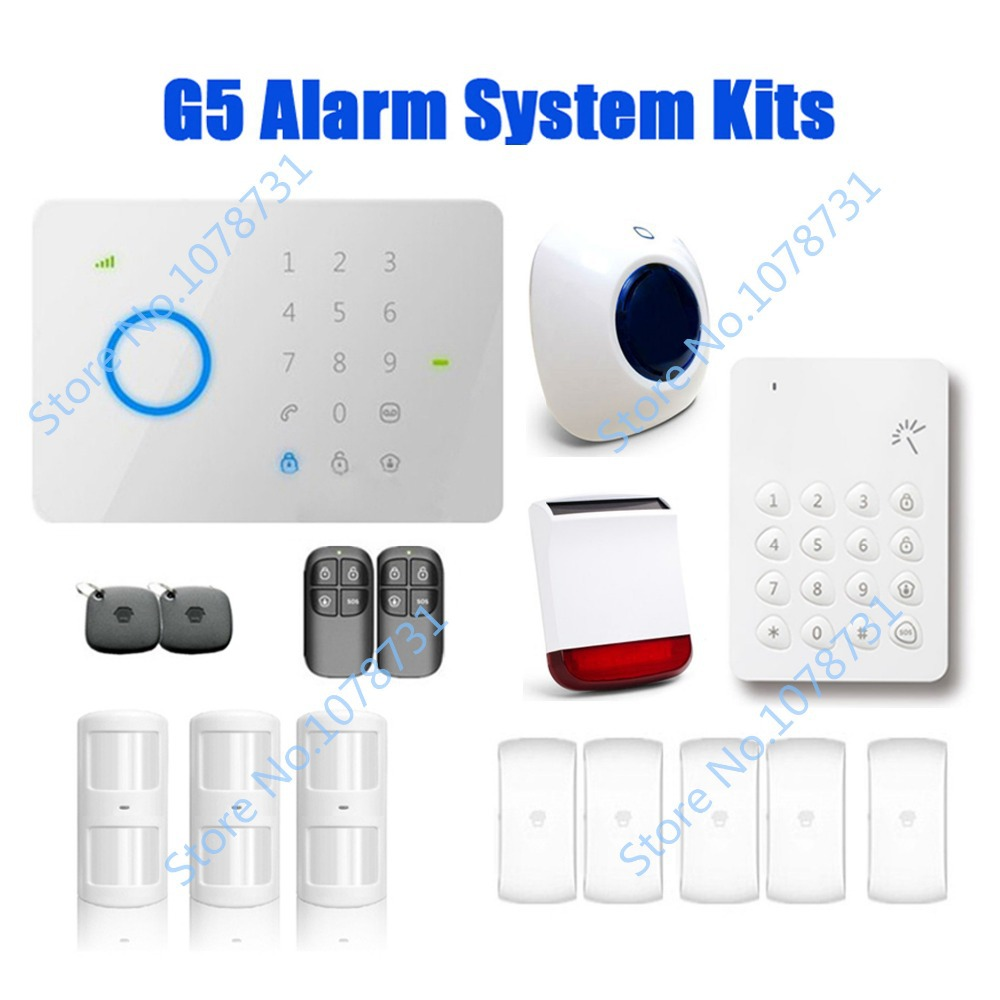DHL Free Shipping Smart House Chuango G5 315Mhz Touch Keypad GSM SMS Wireless Home Security Burglar Alarm System More Protection<br><br>Aliexpress