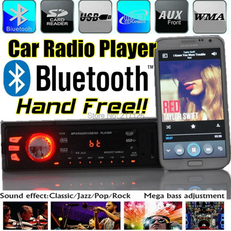 Car Radio Bluetooth Stereo 1 Din Head Unit Dash MP3/USB/SD/aux/FM Player hand free Phone AUX-IN - Tailian Li's store