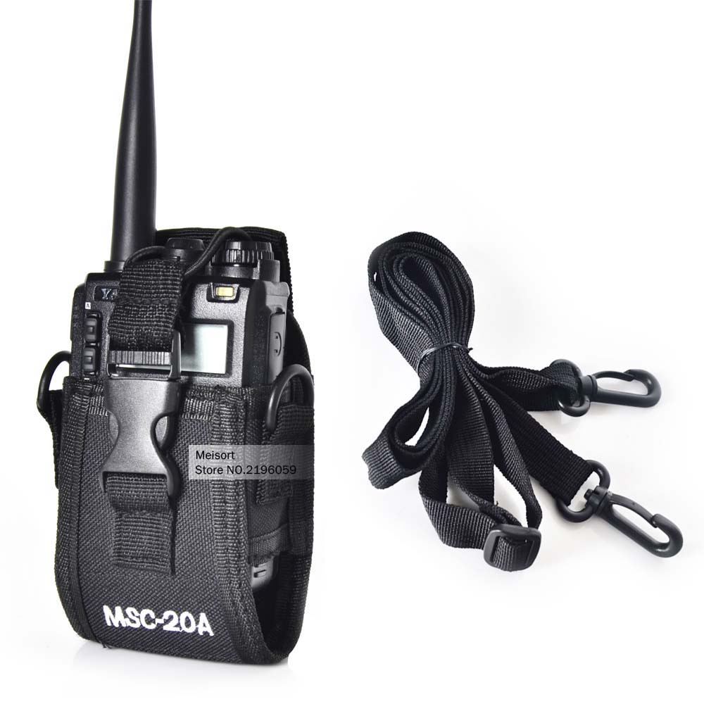 MSC-20A Holder Pouch Case For Portable Ham Radio Motorola Kenwood Walkie Talkie Two Way Radio BaoFeng uv-5r UV82 UV8D UV6 GT-3(China (Mainland))