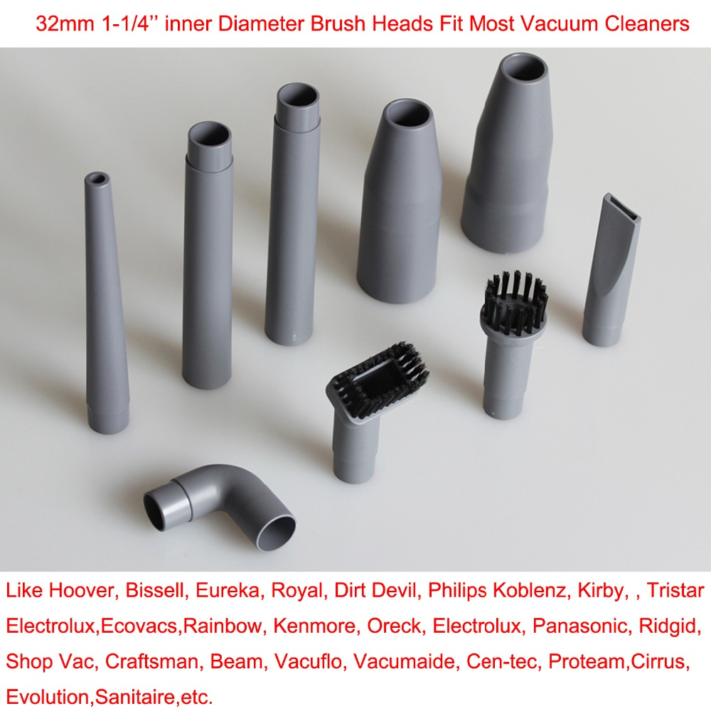 9Pcs/Lot Vacuum Cleaner Cleaner parts horsehair nozzle head & Brush for Hoover, Bissell, Eureka, Royal, Dirt Devil Replacement(China (Mainland))