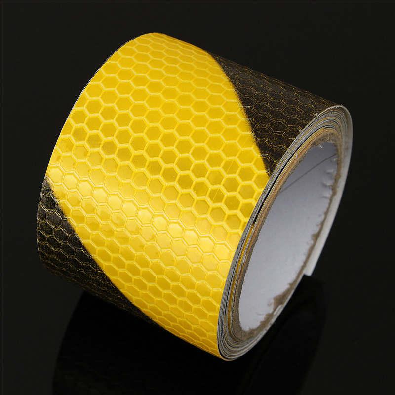 Горячая распродажа горячая распродажа 3 м черный желтые светоотражающие безопасности предупреждение корабля лента фильм стикер