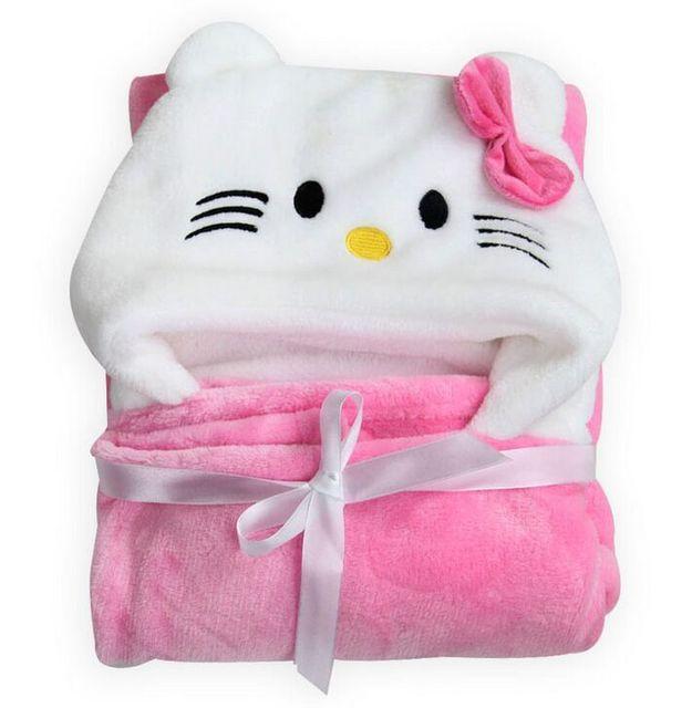 Новорожденный пеленание супер мягкие удобные Малыш Малыш Плащ с капюшоном одеяло ...