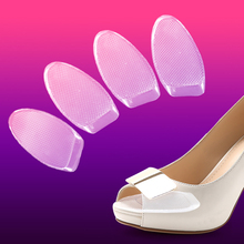2016 New one pair 5mm transparency silicone gel forefoot pad for lady high heel shoes feet cushion relief foot pain half sole