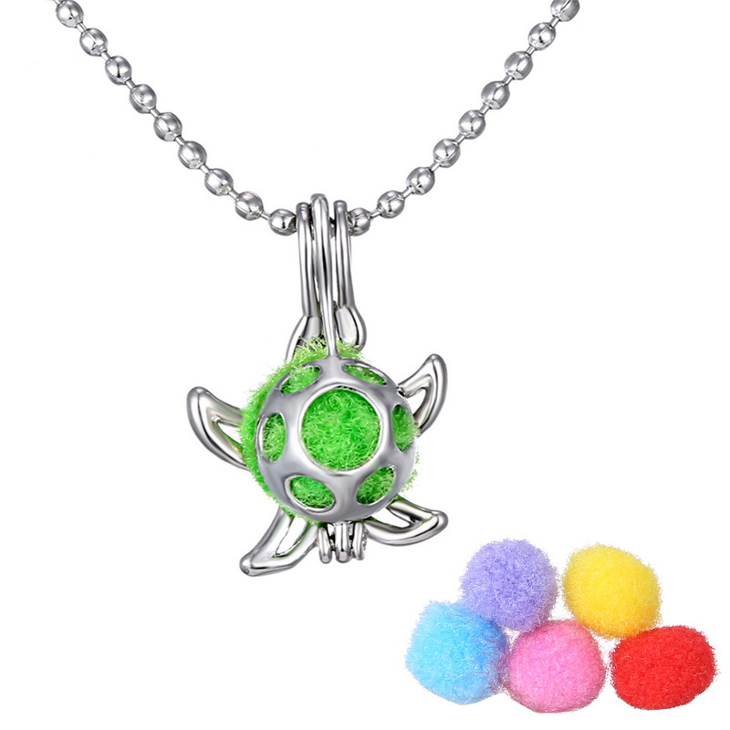 Open Antique Vintage Lockets Essential Oil Diffuser Necklace starfish Perfume Aromatherapy Lockets Necklace pendant For Gifts(China (Mainland))