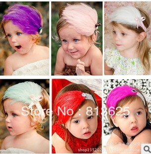 Baby Girl's Headband Headwear,Girls Topknot Hair Accessories,Infant Hair Band Hair Jewelry free shipping(China (Mainland))