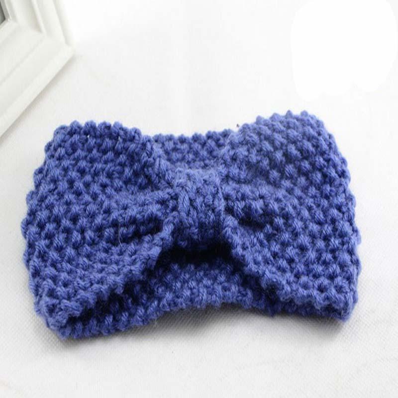 Multicolor Knitted Bow Women Headband Winter Flower Ear ...